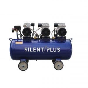 水平エアタンク付き80L産業用空気圧縮機